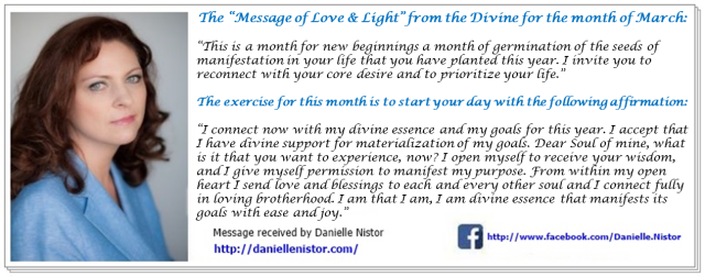 March 2016 message